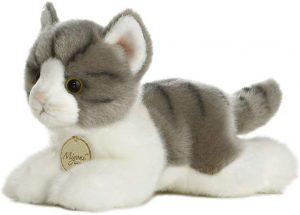 Peluche de gato gris de Aurora de 20 cm - Los mejores peluches de gatos - Peluches de animales