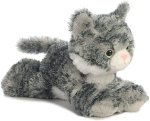 Peluche de gato gris oscuro de Aurora de 20 cm - Los mejores peluches de gatos - Peluches de animales