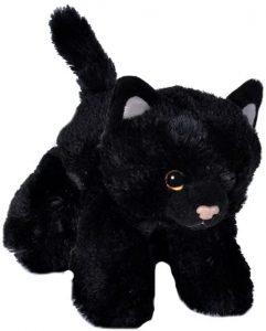 Peluche de gato negro de Wild Republic de 18 cm - Los mejores peluches de gatos - Peluches de animales