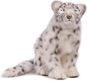 Peluche de leopardo de las nieves de Hansa de 40 cm - Los mejores peluches de leopardos - Peluches de animales