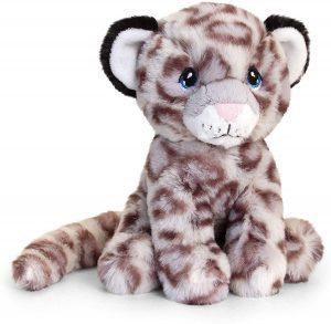 Peluche de leopardo de las nieves de Keel Toys de 18 cm - Los mejores peluches de leopardos - Peluches de animales