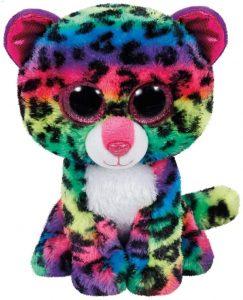 Peluche de leopardo multicolor de Ty de 15 cm - Los mejores peluches de leopardos - Peluches de animales