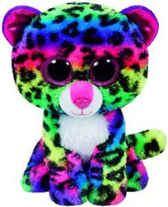 Peluche de leopardo multicolor de Ty de 23 cm - Los mejores peluches de leopardos - Peluches de animales