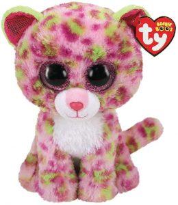 Peluche de leopardo rosa de Ty de 23 cm - Los mejores peluches de leopardos - Peluches de animales