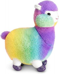 Peluche de llama multicolor de Mousehouse Gifts de 32 cm - Los mejores peluches de llamas - Peluches de animales