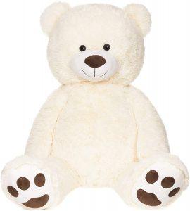 Peluche de oso polar de BRUBAKER de 100 cm - Los mejores peluches de osos polares - Peluches de animales