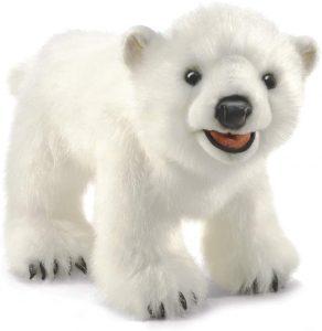 Peluche de oso polar de Folkmanis de 35cm - Los mejores peluches de osos polares - Peluches de animales