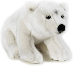 Peluche de oso polar de National Geographic de 25 cm - Los mejores peluches de osos polares - Peluches de animales