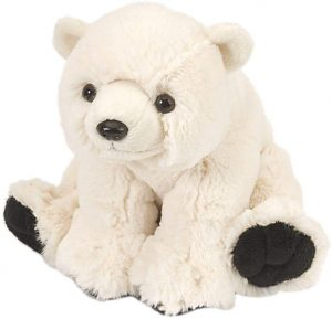 Peluche de oso polar de Wild Republic de 20 cm - Los mejores peluches de osos polares - Peluches de animales