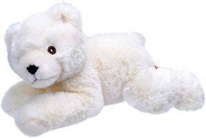 Peluche de oso polar de Wild Republic de 20 cm tumbado - Los mejores peluches de osos polares - Peluches de animales