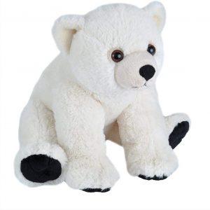 Peluche de oso polar de Wild Republic de 30 cm - Los mejores peluches de osos polares - Peluches de animales