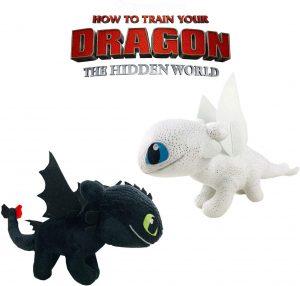 Peluche de pack de dragones de 20 cm - Los mejores peluches de como Entrenar a tu Dragón 3 - Peluches de como Entrenar a tu Dragón 3