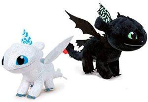 Peluche de pack de dragones de 40 cm - Los mejores peluches de como Entrenar a tu Dragón 3 - Peluches de como Entrenar a tu Dragón 3