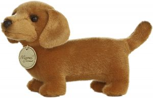 Peluche de perro salchicha de Aurora de 25 cm - Los mejores peluches de perros salchicha - Peluches de perros