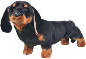 Peluche de perro salchicha de vidaXL de 60 cm - Los mejores peluches de perros salchicha - Peluches de perros