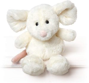 Peluche de ratón blanco de All Creatures de 20 cm - Los mejores peluches de ratones - Peluches de animales