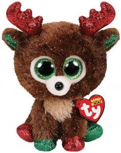Peluche de reno de Ty de Navidad de 15 cm 3 - Los mejores peluches de renos - Peluches de animales