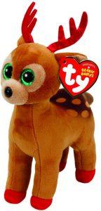 Peluche de reno de Ty de Navidad de 15 cm 4 - Los mejores peluches de renos - Peluches de animales