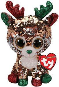 Peluche de reno de Ty de Navidad de 15 cm - Los mejores peluches de renos - Peluches de animales