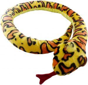 Peluche de serpiente amarilla de 180 cm de Heunec - Los mejores peluches de serpientes - Peluches de animales