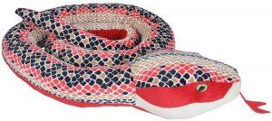 Peluche de serpiente de coral de 280 cm de Wild Republic - Los mejores peluches de serpientes - Peluches de animales