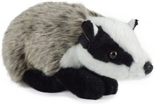 Peluche de tejón de Living Nature de 20 cm - Los mejores peluches de tejones - Peluches de animales