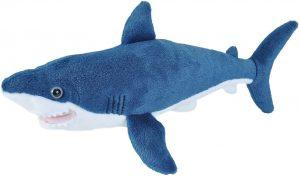 Peluche de tiburón azul de Wild Republic de 20 cm - Los mejores peluches de tiburones - Peluches de animales