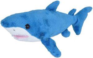 Peluche de tiburón azul de Wild Republic de 28 cm - Los mejores peluches de tiburones - Peluches de animales