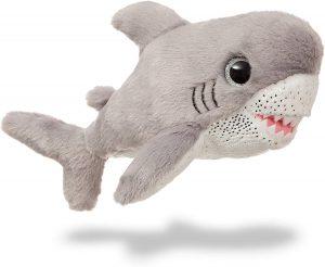 Peluche de tiburón blanco de Aurora de 18 cm - Los mejores peluches de tiburones - Peluches de animales