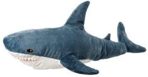 Peluche de tiburón blanco de Ikea de 100 cm - Los mejores peluches de tiburones - Peluches de animales