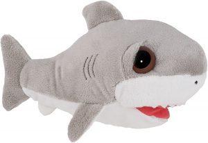 Peluche de tiburón blanco de Lil Peepers de 25 cm - Los mejores peluches de tiburones - Peluches de animales