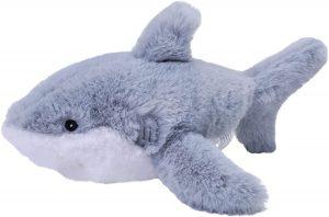 Peluche de tiburón blanco de Wild Republic de 23 cm - Los mejores peluches de tiburones - Peluches de animales