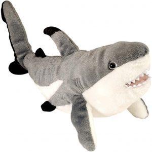 Peluche de tiburón blanco de Wild Republic de 38 cm - Los mejores peluches de tiburones - Peluches de animales