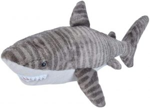 Peluche de tiburón tigre de Wild Republic de 30 cm - Los mejores peluches de tiburones - Peluches de animales