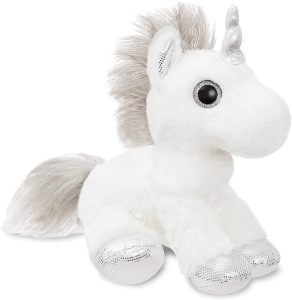 Peluche de unicornio de Aurora de 31 cm plata - Los mejores peluches de unicornios - Peluches de animales