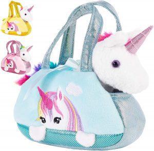 Peluche de unicornio en bolso de BRUBAKER de 20 cm - Los mejores peluches de unicornios - Peluches de animales