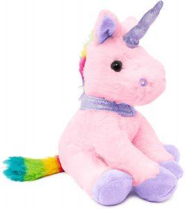 Peluche de unicornio rosa de BRUBAKER de 21 cm - Los mejores peluches de unicornios - Peluches de animales