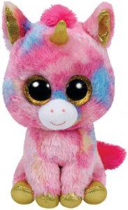 Peluche de unicornio rosa de Ty de 40 cm - Los mejores peluches de unicornios - Peluches de animales