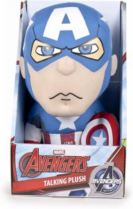 Peluche del Capitán América con sonido de 25 cm - Los mejores peluches del Capitán América - Peluches de superhéroes de Marvel