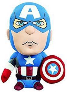 Peluche del Capitán América de 23 cm - Los mejores peluches del Capitán América - Peluches de superhéroes de Marvel