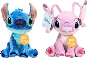 Peluche pack de Stitch y Angel de Lilo y Stitch de 29 cm - Los mejores peluches de Stitch - Peluches de Disney