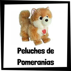 Peluches baratos de pomeranias - Los mejores peluches de perros - Peluche de pomerania barato de felpa