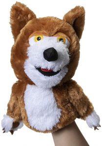 Marioneta de peluche de Lobo Beto de la Granja de Zenón de 26 cm - Los mejores peluches de la granja de Zenón