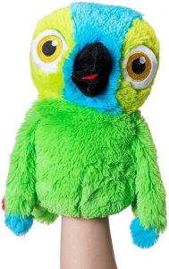 Marioneta de peluche de Lorito Pepe de la Granja de Zenón de 26 cm - Los mejores peluches de la granja de Zenón