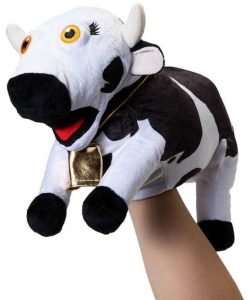 Marioneta de peluche de Vaca Lola de la Granja de Zenón de 26 cm - Los mejores peluches de la granja de Zenón