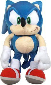 Mochila de peluche de Sonic de 40 cm de SEGA - Los mejores peluches de Sonic - Peluches de personajes del erizo Sonic