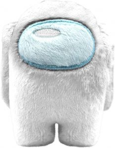 Peluche de Among Us blanco de 10 cm - Los mejores peluches de Among Us - Peluches de personaje de Among Us