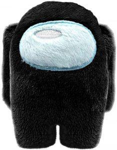Peluche de Among Us negro de 10 cm - Los mejores peluches de Among Us - Peluches de personaje de Among Us