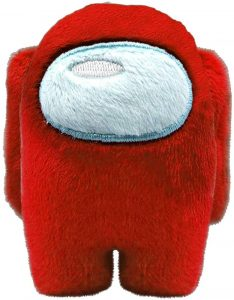 Peluche de Among Us rojo de 10 cm - Los mejores peluches de Among Us - Peluches de personaje de Among Us