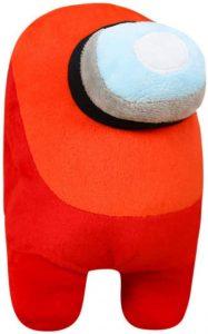 Peluche de Among Us rojo de 20 cm - Los mejores peluches de Among Us - Peluches de personaje de Among Us